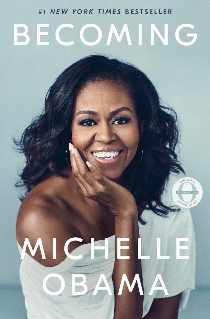 Portada de labiografía de Michelle Obama, Becoming